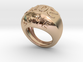 2016 Ring Of Peace 22 - Italian Size 22 in 14k Rose Gold Plated Brass