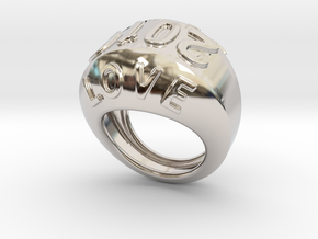 2016 Ring Of Peace 23 - Italian Size 23 in Rhodium Plated Brass