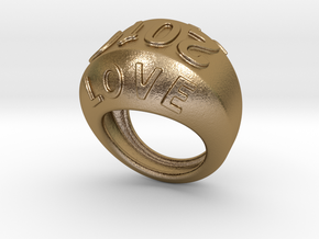 2016 Ring Of Peace 23 - Italian Size 23 in Polished Gold Steel