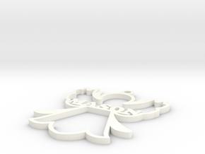 Mason Angel Figurine in White Processed Versatile Plastic