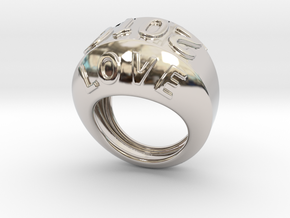 2016 Ring Of Peace 27 - Italian Size 27 in Rhodium Plated Brass