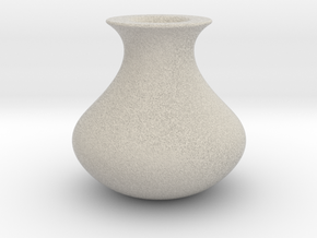 Wide Vase in Natural Sandstone