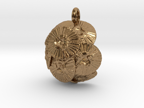 Coccolithus Pendant - Science Jewelry in Natural Brass