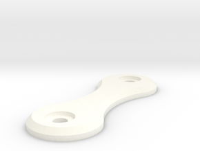 Key Holder Side in White Processed Versatile Plastic