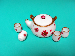 Msd Oriental Tea Set 005f in White Natural Versatile Plastic