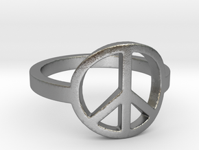 Peace Ring Size 5.5 in Natural Silver: 5.5 / 50.25
