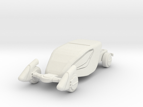 GV07 Sci-Fi Sports Car (28mm) in White Strong & Flexible