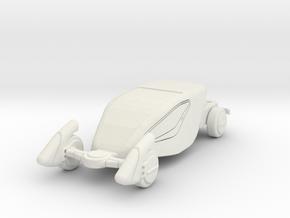 GV07 Sci-Fi Sports Car (28mm) in White Natural Versatile Plastic