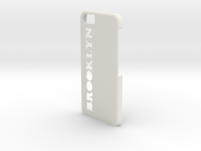Brooklyn iPhone Case in White Natural Versatile Plastic