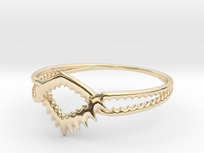 SHARKtOOTHrING in 14K Gold