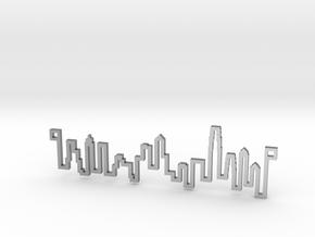 The original Hong Kong Skyline Line in Natural Silver