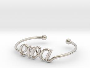 Ewa Bracelet (small) in Rhodium Plated Brass