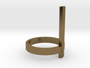 Vertical Bar Ring, Size 7 in Polished Bronze