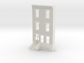 HO SCALE ROW HOME FRONT BRICK 3S in White Natural Versatile Plastic