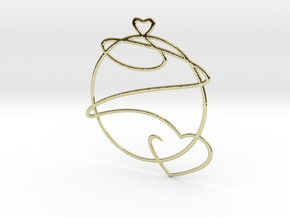 Love Heart in 18k Gold Plated Brass