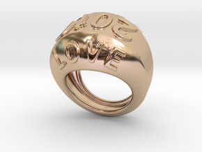 2016 Ring Of Peace 32 - Italian Size 32 in 14k Rose Gold Plated Brass