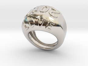 2016 Ring Of Peace 32 - Italian Size 32 in Rhodium Plated Brass