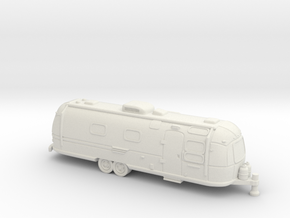 N Gauge - Classic American Trailer in White Natural Versatile Plastic
