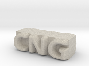 CNG Pendant in Natural Sandstone