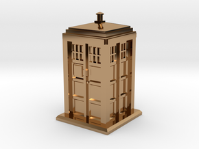 TT Gauge - Police Box in Polished Brass