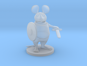 Mouse Warrior - Small Scale in Smooth Fine Detail Plastic