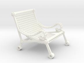1:12 scale miniature industrial art chair in White Processed Versatile Plastic