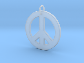 Peace Sign in Smooth Fine Detail Plastic