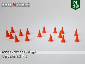 SET 16 Leitkegel (N 1:160) in Smooth Fine Detail Plastic