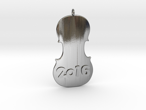 Happy Violin 2016 in Polished Silver