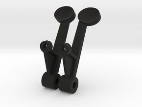 Sopwith Camel Gun Button in Black Natural Versatile Plastic