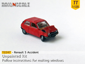 Renault 5 Accident (TT 1:120) in Smooth Fine Detail Plastic