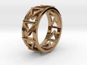 Dreiecklein Ring Size 10.5 in Polished Brass