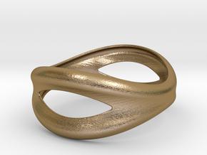 Bracelet Mouth 73 in Polished Gold Steel