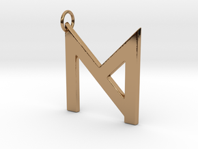 M in Polished Brass