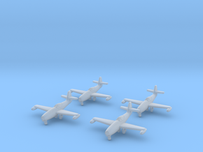 1/350 Yakovlev Yak-23 (landing gear down) x4 in Smooth Fine Detail Plastic