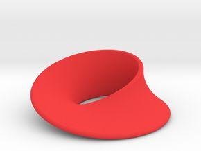 Minimal Mobius pendant (1 in) in Red Processed Versatile Plastic