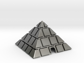 Pyramid - USB cable on the table stationary skid in Fine Detail Polished Silver