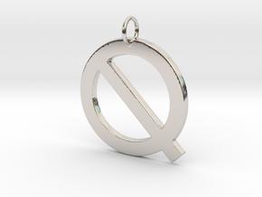 Q in Rhodium Plated Brass
