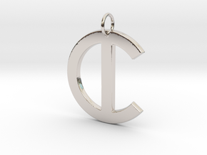 C in Rhodium Plated Brass