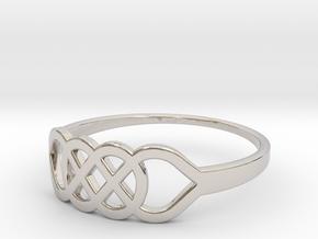 Size 8 Knot C1 in Platinum
