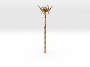 Floating Crystal Staff in Polished Brass