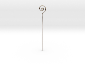 Spiral Staff in Rhodium Plated Brass
