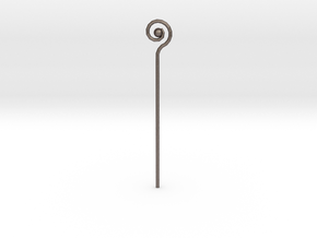 Spiral Staff in Stainless Steel