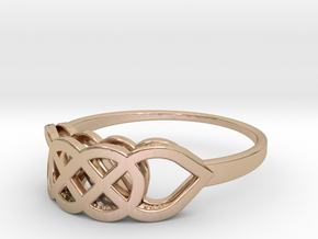Size 8 Knot C2 in 14k Rose Gold Plated Brass