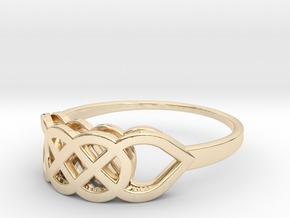 Size 9 Knot C2 in 14K Yellow Gold