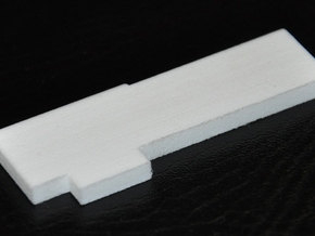 Lock Bar in White Natural Versatile Plastic