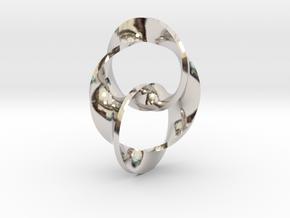 Trinity in Rhodium Plated Brass