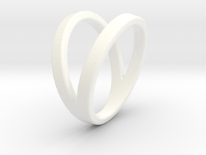Split Ring Size US 8 in White Processed Versatile Plastic