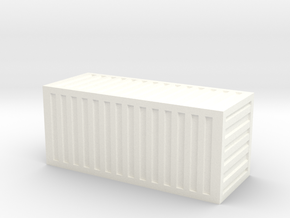 20 Foot Container (1:350 scale, hollow) in White Strong & Flexible Polished