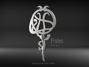 Pisces[Constellation Magic Series] - Key Style in Fine Detail Polished Silver